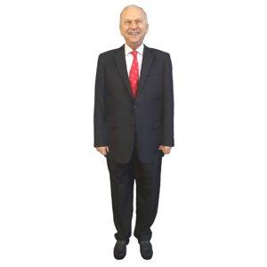 3D man standing model
