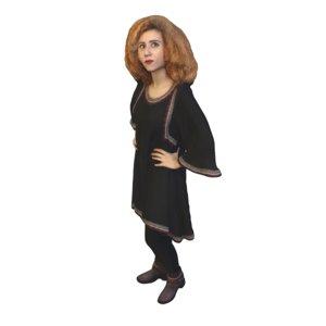 woman standing 3D model