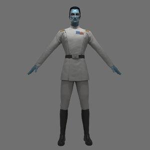 3D model grand admiral thrawn
