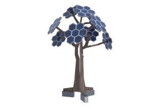 future energy solar trees 3D model