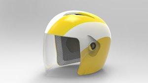 half face scooter helmet 3D model