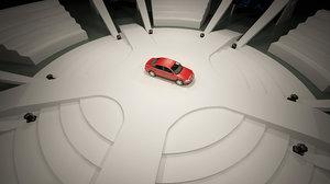 3D car stage design model