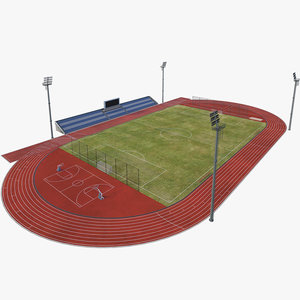 3D stadium bleachers model
