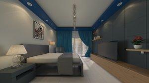 bedroom interior design architecture model