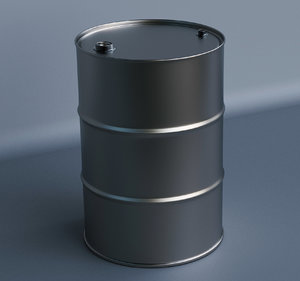 208 oil barrel 3D model