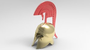 3D medieval armour spartan greek helmet