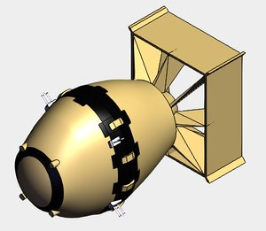 3D fat man bomb
