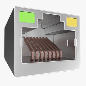 lan port 3D model