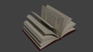 book asset 3D model