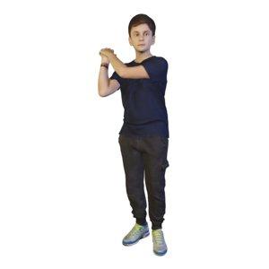 3D model boy standing