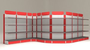 shelves markets 3D model