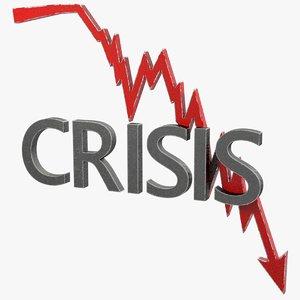 3D model crisis graph