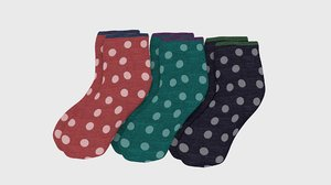dot socks 3D model