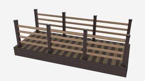fence deck 3D