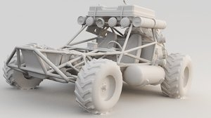 3D buggy games model