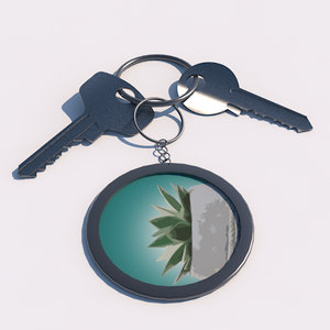 3D keychain keys