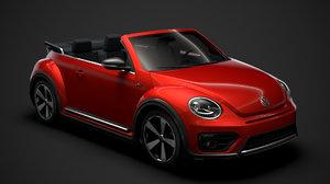 beetle r line convertible 3D model