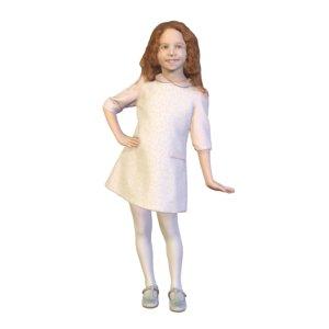 3D model girl standing