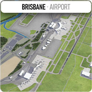 brisbane airport - bne 3D