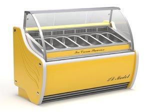 cream fridge ice 3D model