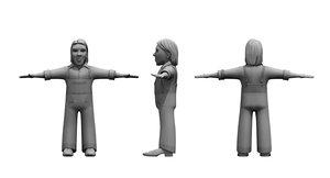 dwarf man 3D model
