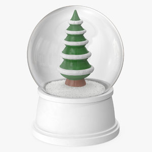 3D snow globe christmas tree model