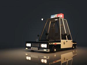 3D stylized police car