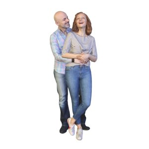 3D couple standing