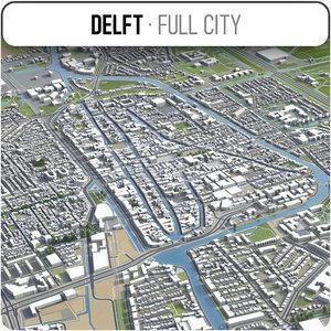 delft surrounding - 3D model