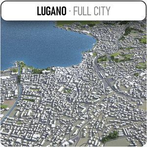 lugano surrounding - 3D model