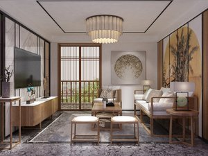 living room chinese style model