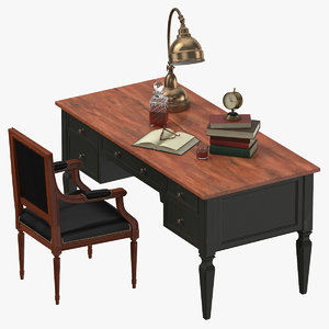 classical office 01 02 3D model