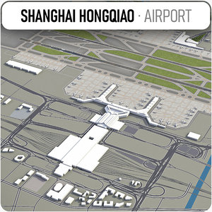 3D shanghai hongqiao international airport