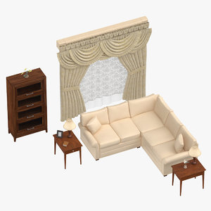 3D classical living room scenes