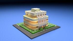 3D model art deco house