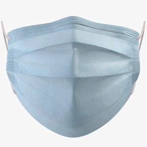 3D model realistic surgical mask