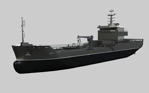 3D ship boat bulker model
