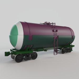 3D railroad tank car model
