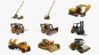 Construction Vehicles Pack 3.0
