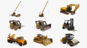3D construction vehicles pack 3