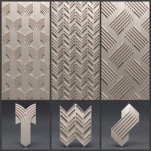 3 gypsum panels 3D
