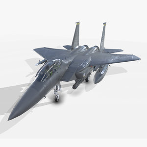 3D model douglas f-15e strike eagle