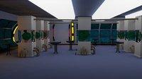 Scifi laboratory - low poly Low-poly 3D model