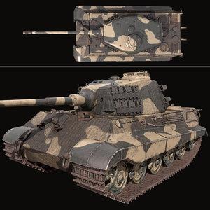 king tiger 3D model