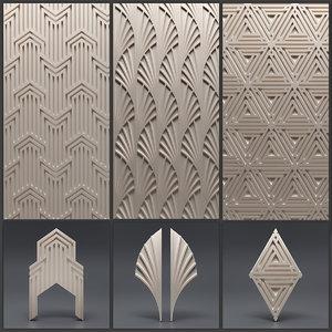 3D gypsum panels 5