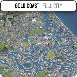 3D gold coast surrounding -