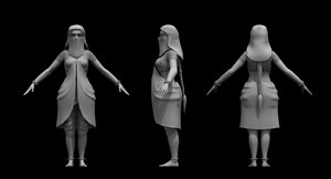 muslim girl dancer 3D model