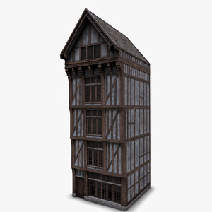 3D medieval house e