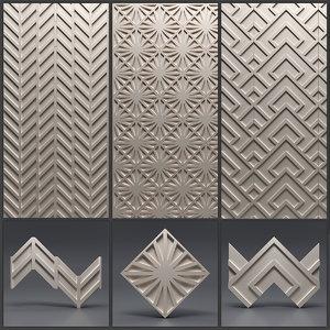 gypsum panels 3D model