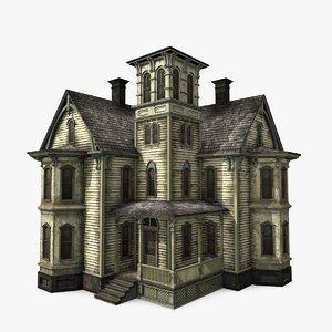3D abandoned mansion model